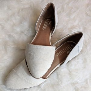 Toms Jutti D'Orsey Pointed Ballet Flats - Size 10